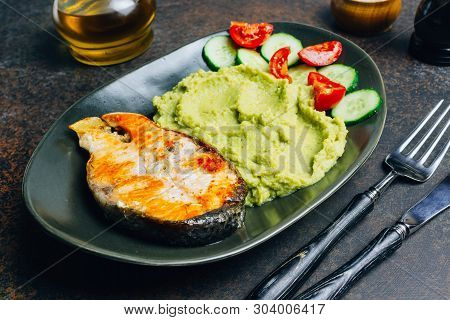 Plate With A Keto Diet Food. A Set Of Products For The Ketogenic Diet On A Plate. Cherry Tomatoes, C