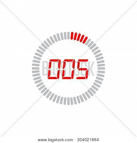 The 5 Seconds Icon Isolated On White Background. The 5 Seconds Icon Simple Sign. The 5 Seconds Icon