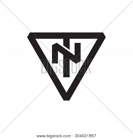 Tn Letter Initial With Triangle Logo Vector Element. Triangle Logo Template
