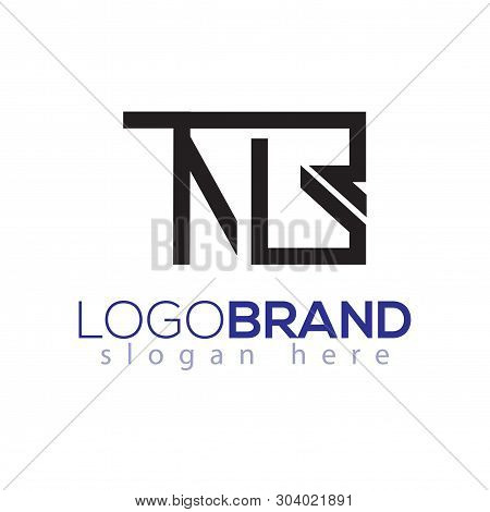 Tn G Letter Initial With Square Logo Vector Element