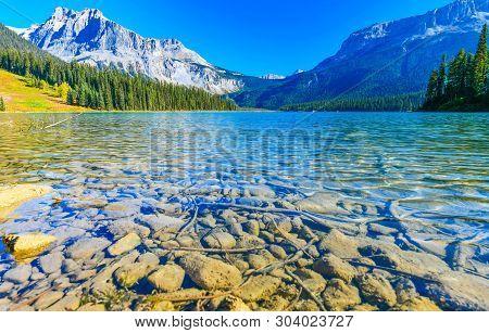 Emerald Lake,yoho National Park In British Columbia Canada