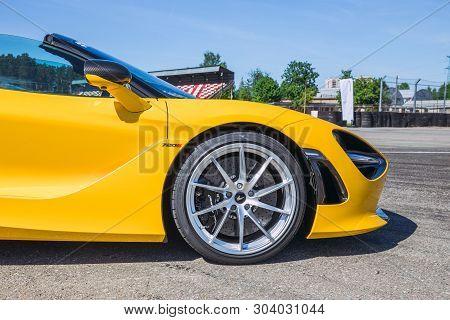 City Riga, Latvian Republic. Sport Car -mclaren In Bikernieku Race Track. Mclaren Club Event. May 30
