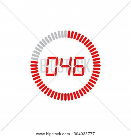 The 46 Seconds Icon Isolated On White Background. The 46 Seconds Icon Simple Sign. The 46 Seconds Ic