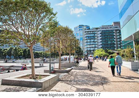 Paris, France - June 19, 2015: La Defense - Modern Business And Financial District In Paris With Hig