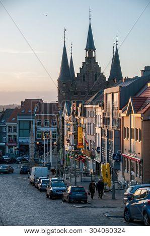 Geraardsbergen, Belgium. February 2, 2014. An Impression Of The Historic City Center Of Geraardsberg