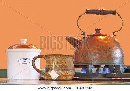Tea kettle, mug and canister