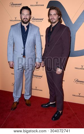 LOS ANGELES - MAY 30:  Cole Hauser, Luke Grimes at the