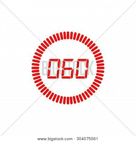 The 60 Seconds Icon Isolated On White Background. The 60 Seconds Icon Simple Sign. The 60 Seconds Ic