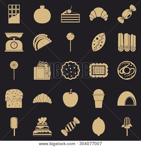 Ice Cream Parlor Icons Set. Simple Set Of 25 Ice Cream Parlor Vector Icons For Web For Any Design
