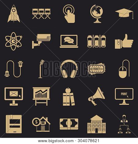 Commune Icons Set. Simple Set Of 25 Commune Vector Icons For Web For Any Design