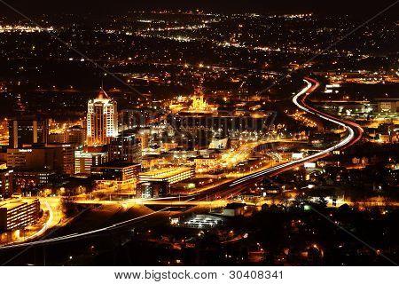 Panorama view of Roanoke Virginia