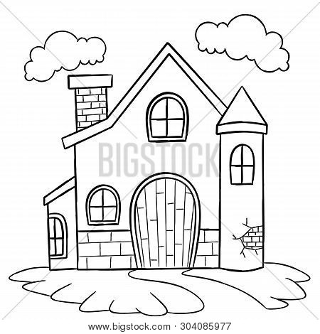 House Coloring Page For Children. House Coloring Page For Children.