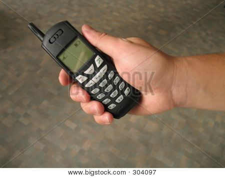 Mobile Phone In Right Hand