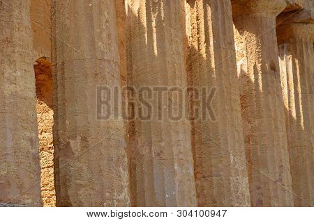 The Temple Of Concordia In Agrigento, Italy