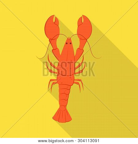 Isolated Object Of Crayfish  And Lobster Sign. Set Of Crayfish  And Boiled Stock Vector Illustration