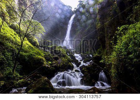 Beautiful Landscape - Mae Surin Waterfall At Khun Yuam Districts , Mae Hong Son Province , Thailand