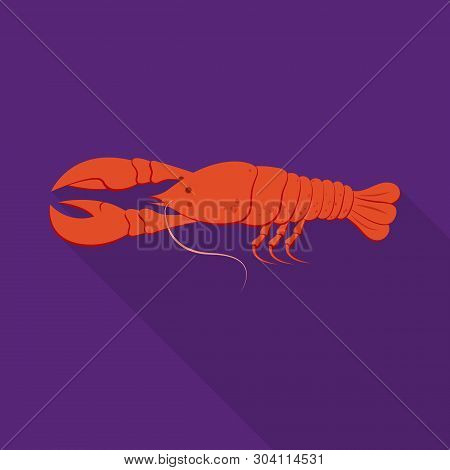 Vector Design Of Crayfish  And Lobster Symbol. Collection Of Crayfish  And Boiled Vector Icon For St