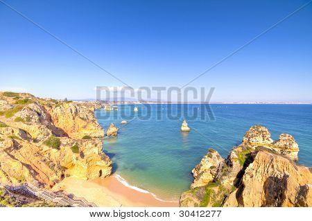 Beautiful southcoast near Lagos in the Algarve Portugal