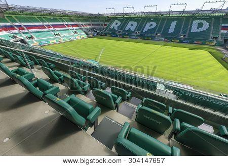 Vienna, Austria - September 2018:  View On Allianz Stadion