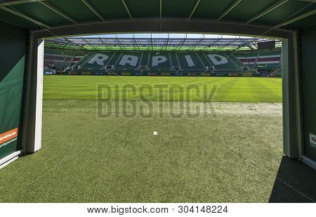 Vienna, Austria - September 2018:  Exit On To The Field At Allianz Stadion