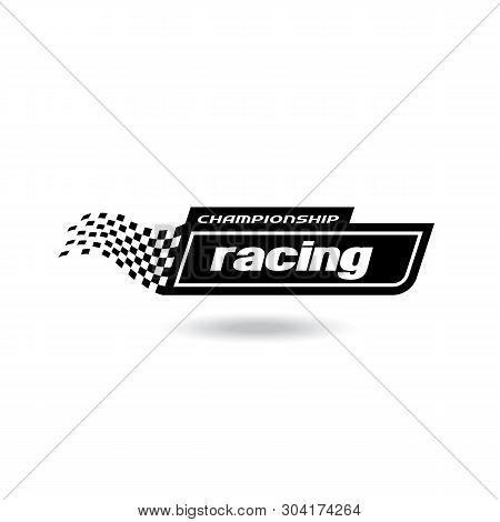 Race Flag Vector Icon Symbols. Simple Design Racing Flag Logo Template