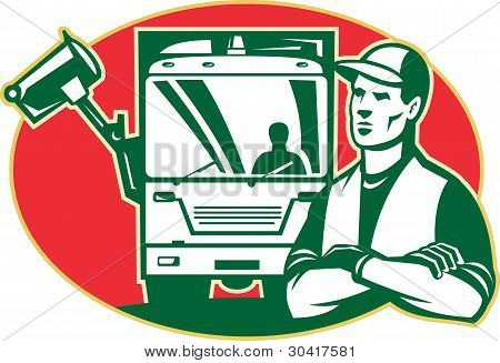 Garbage Collector And Side Loader Rubbish Truck