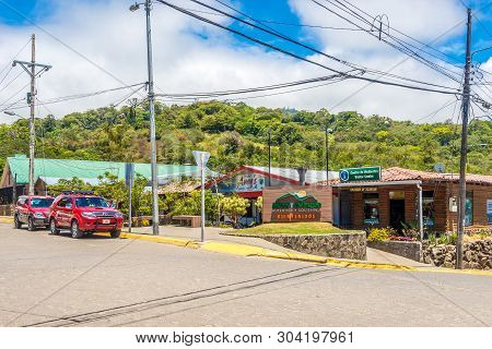 Santa Elena,costa Rica - March 21,2019 - In The Streets Of Santa Elena Of Monteverde. Monteverde Was