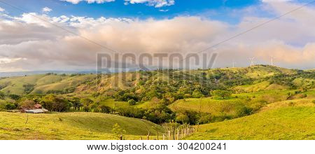 Panoramic View To The Valley Near Monteverde Cloud Forest Reserve - Costa Rica