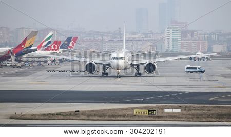 Airplanes In Aprone Of Airport