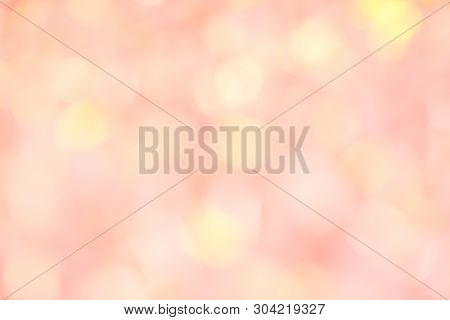 Pink, White And Yellow Color For Blur Background Or Texture - Space Fot Your Content.