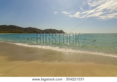 The Lonely Beach Of Los Frailes In The Machalilla National Park. Ecuador.