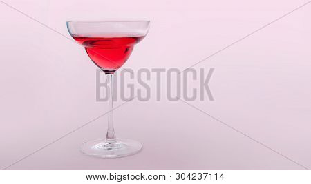 Summer Red Cocktail Beverage In A Glass