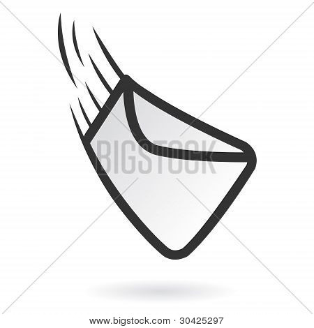 fast mail delivering icon