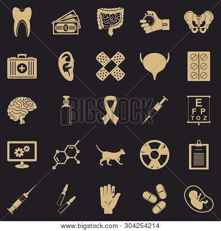 Diagnosis Of Body Icons Set. Simple Set Of 25 Diagnosis Of Body Vector Icons For Web For Any Design