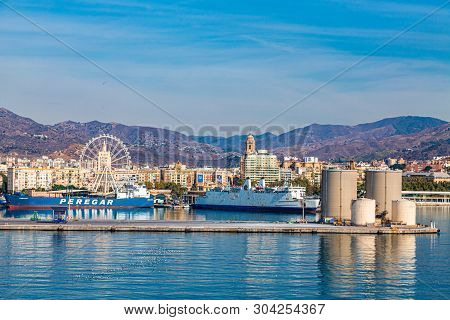 Malaga, Spain - September 26, 2016: M Laga Is On Spain S Costa Del Sol, Known For Its High-rise Reso
