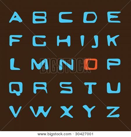 Vector blue letters