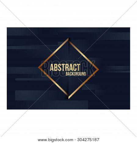 Abstract Background Dark Blue Gold Color Elegant_04