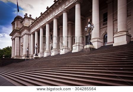 This Building Is Melbourne Parliament House In Victoria, Australia. From 1901 To 1927 It Was Used By