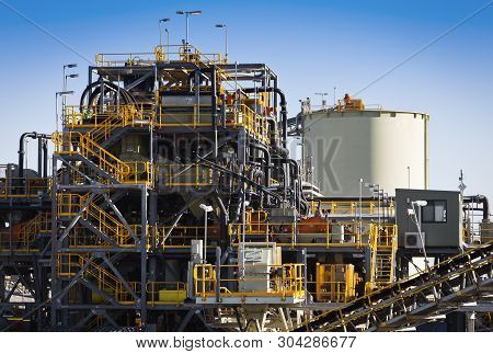 Processing Plant At Galaxy Lithium Mine In Ravensthorpe, Western Australia. Mechanical Processing Us