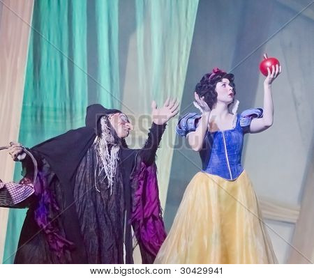 Snow White With The Apple From The Witch