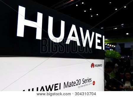 Bangkok, Thailand - June 01, 2019 : Thailand Mobile Expo 2019 ,huawei Zone ,huawei Is Chinese Networ
