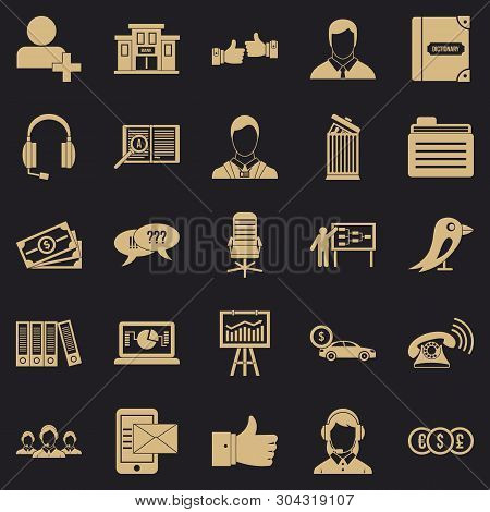Deliberation Icons Set. Simple Set Of 25 Deliberation Vector Icons For Web For Any Design