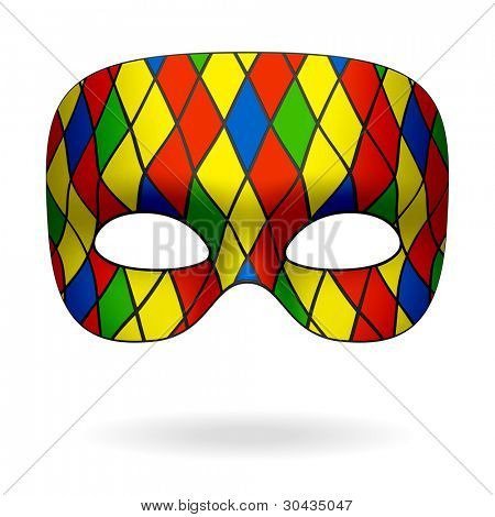Harlequin mask. Vector.