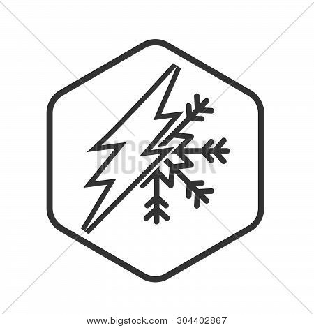 Electric Current And Air Conditioning Icon Isolated On White Background. Electric Current Icon Simpl