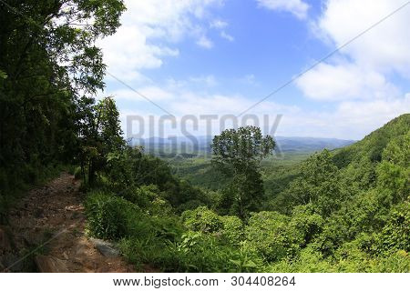 View Of The Mountains From The Top Of Amicalola Falls State Park