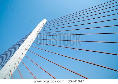 Tower(pier) of a suspension bridge with shrouds