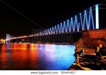 Istanbul Bosphorus Bridge in colors