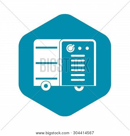 Inverter Welding Machine Icon In Simple Style Isolated Vector Illustration