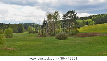 View Of Spring Landscape, Southern Bohemia . Czech Republic