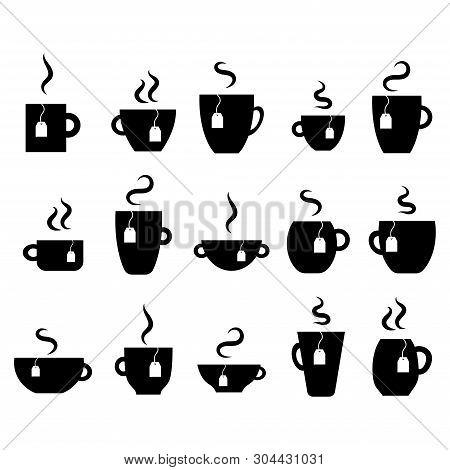 White Background. Modern Vector Design. Creation Set. People Icon Set. Tea Cup. Coffee Mug Vector.